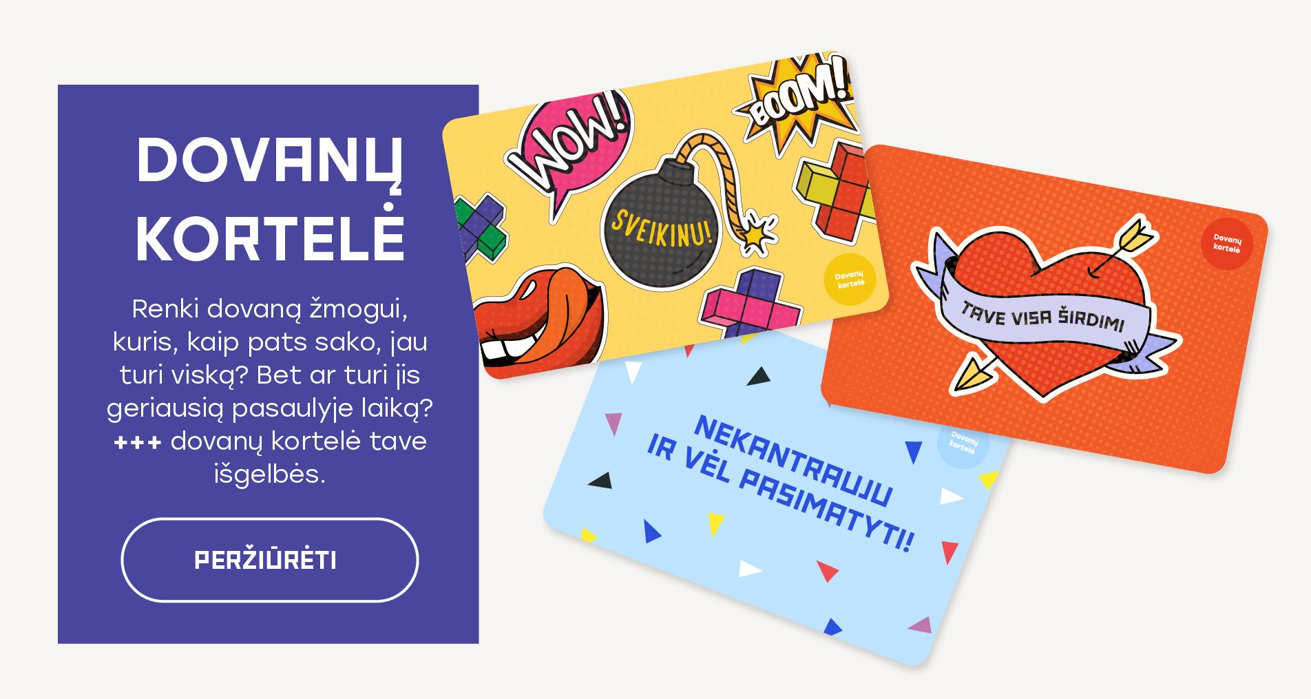 +++ dovanų kortelė