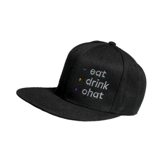 Kepurė +eat +drink +chat